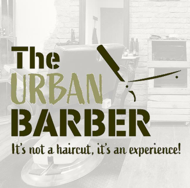 Headerbild inklusive Logo von the Urbanbarber Shop